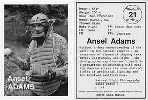 That Time When Ansel Adams Posed for a Baseball Trading ...