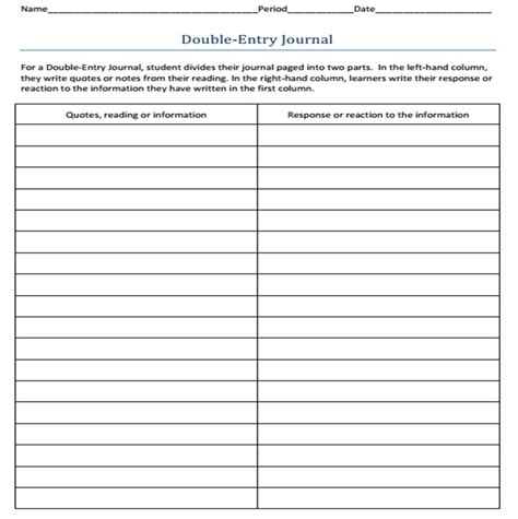 double entry journal template doliquid