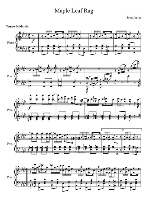 Maple leaf rag is in many ways the prototypical joplin rag, and a large number of the rags he later wrote are mere imitations of it. Maple Leaf Rag (Scott Joplin)   Joplin, Free sheet music, Rag