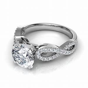 infinity design diamond engagement ring With wedding ring infinity design