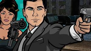 Archer and Lana with Guns - Archer Wallpaper