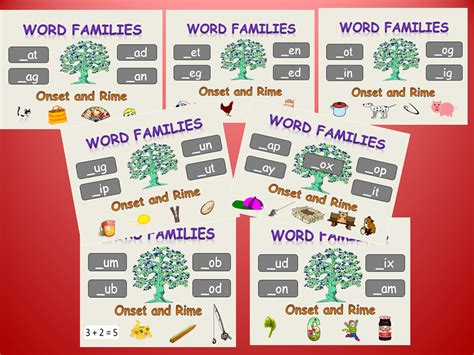 phonics 1 29 onset rime word families powerpoint