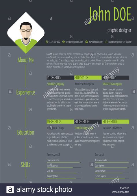Resume Background by Modern Curriculum Vitae Resume Cv Template With Photo And