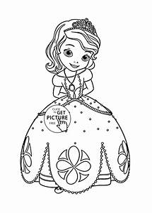 Princess Sofia Coloring Page For Kids, Disney For Girls ...
