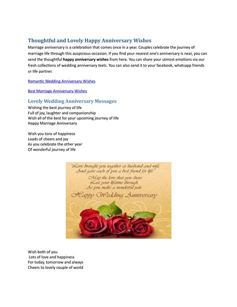 thoughtful  lovely happy anniversary wishe  angela