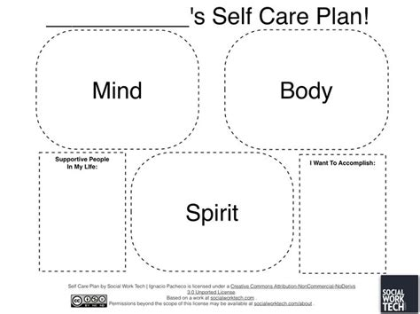 Self Care Plan Template by 13 Best Images Of Self Care Plan Worksheets Social Work
