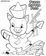 Pigs Three Printable Coloring Pages Template Wolf Away Mr Templates Pooh Winnie Bad sketch template