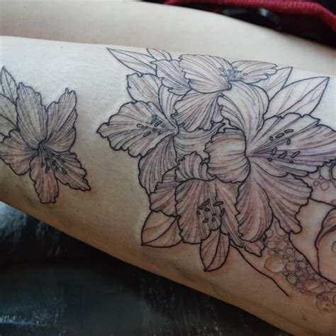 rhododendron tattoos ideas