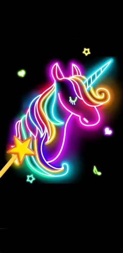 Unicorn Wallpapers Neon Galaxy Phone Fortnite Bright