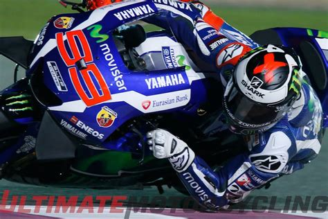 qatar motogp qualifying lorenzo earns pole