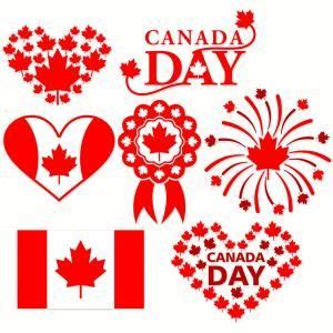 Free svg files for download. Canada Day Celebration with heart frame, flag, firework ...