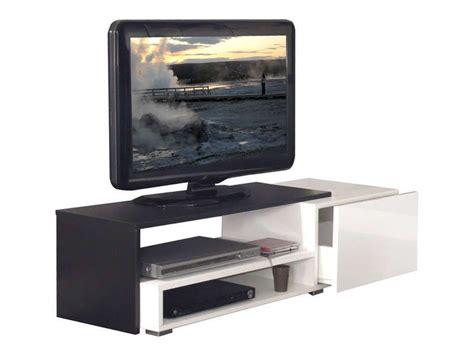 meuble tv rubis coloris blanc noir conforama pickture
