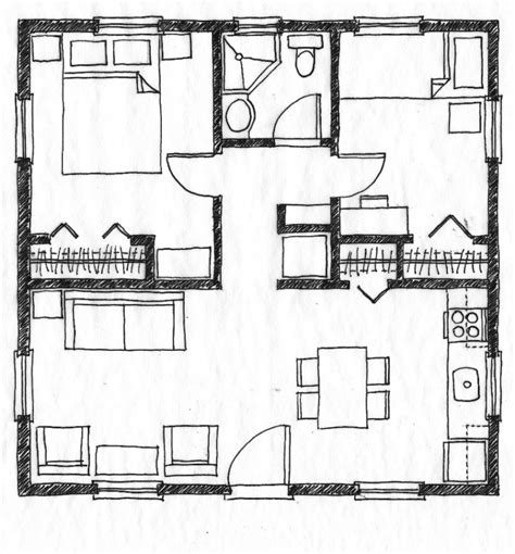 2 bedroom small house plans bedroom designs small house floor plan without legend two