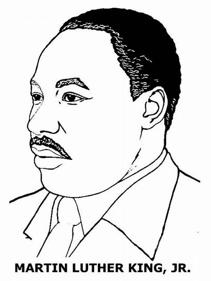 Coloring Luther Martin King Jr Pages Drawing