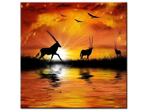 cadre africain pas cher tableau personnalise 2 tableau paysage africain pas cher d233coration murale design ncfor