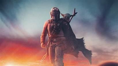 Mandalorian Yoda 4k Wallpapers Artwork Wars Star
