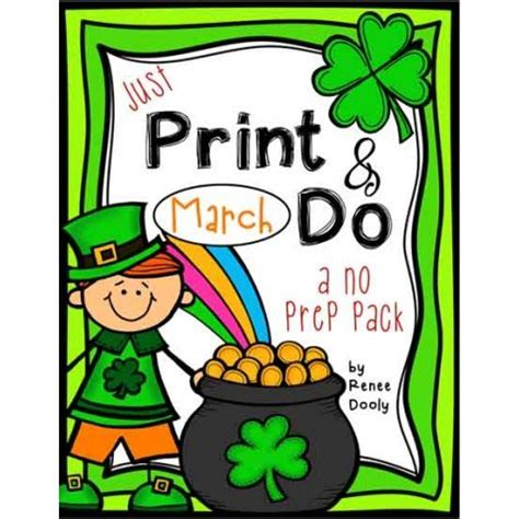printables march print    prep math  literacy
