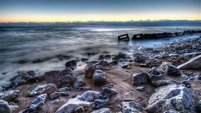Hdr Wallpapers Shore Beach Rocks Stones Ocean