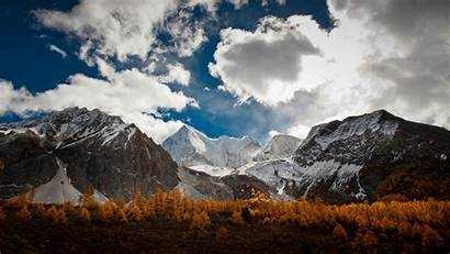 Mountain Range Mountains Wallpapers Trees Clouds Nature