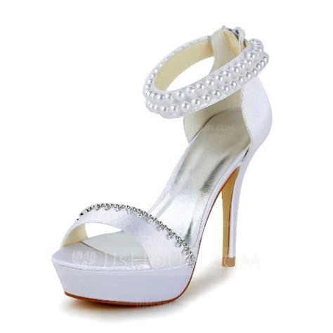 sandalen mit strass und perlen frauen satin st 246 ckel absatz absatzschuhe sandalen mit