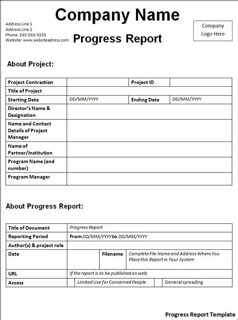 Progress Report Template by Report Templates Free Printable Sle Ms Word Templates