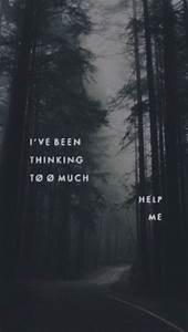 dark wallpaper, quotes wallpaper, thinking, tumblr ...