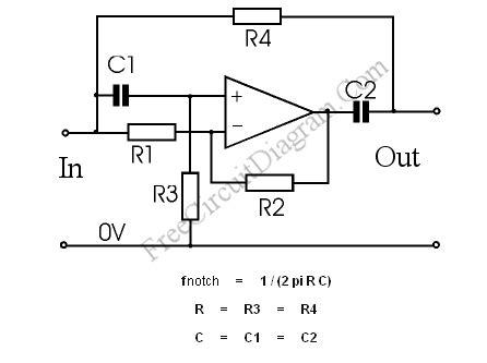 notch filter design notch filter the circuit s diagram and the design formula