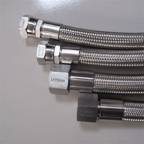 china custom stainless braided ptfe hose assemblies