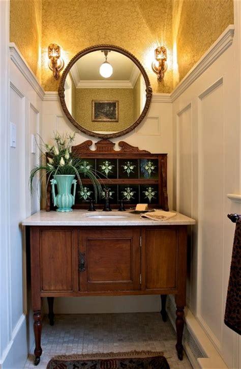 vintage washstand craftsman bathroom  york