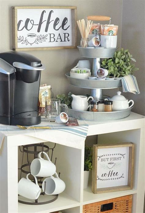 Learn how to set up your own that's why i'm researching and sharing great kitchen coffee bar ideas and decor tips you can use to create the one below is perfect if you love the rustic style and need something small but spacious. #coffeebar   Coffee bar home, Cheap home decor, Bars for home