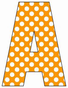 Printable cut out letters a z for Dots alphabet letter