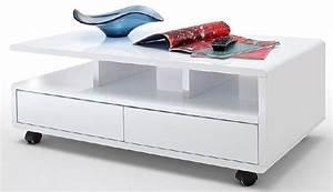 Table Basse Avec Tiroir : table basse blanche avec tiroir table basse table pliante et table de cuisine ~ Teatrodelosmanantiales.com Idées de Décoration