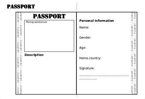 Passport Picture Template by Passport Templates Free Word Pdf Psd Illustrator