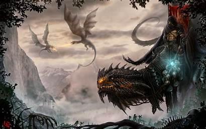 Dragon Fantasy Skull Wallpapers Dragons Castle Fight