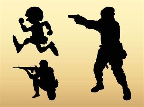 You can download this svg images for free. Soldier Silhouettes Vector Art & Graphics   freevector.com