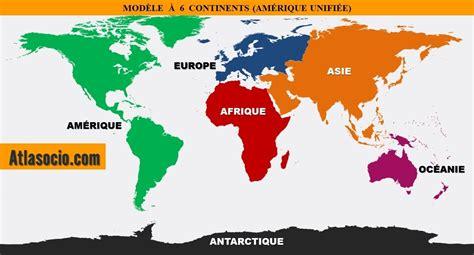 Carte Du Monde Continent Americain by Classement Des Continents Par Superficie Mod 232 Le 224 Six
