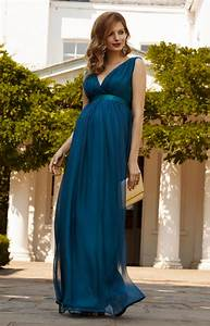 ava maternity gown long aegean blue maternity wedding With robe femme solde