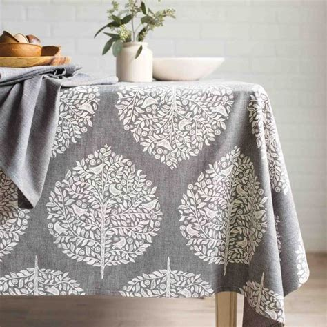 shop  designs elmwood grey cotton chambray weave