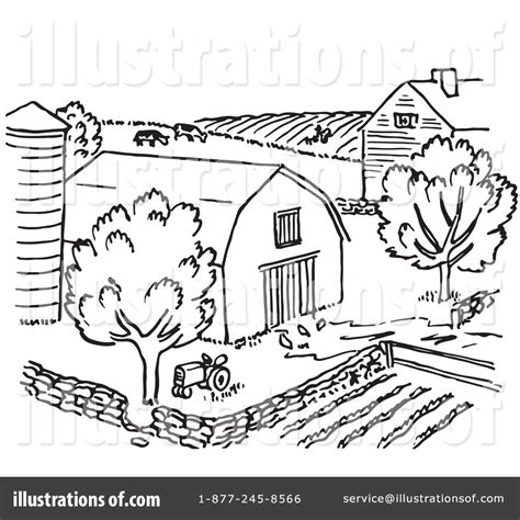 farm black  white clipart clipground