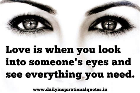 The Best and Most Comprehensive Look In My Eyes Quotes
