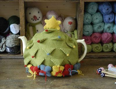 christmas knitted cozy tree tea cosy kit at laughing hens diy trees tea cosies