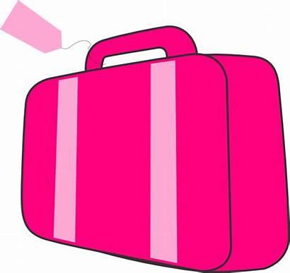 Suitcase Clipart Pink Open Case Clip Travel