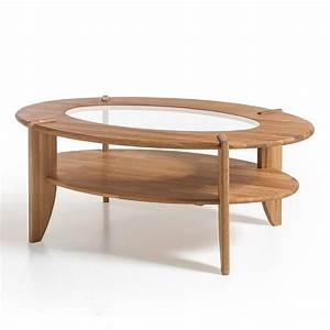 Louisa wooden coffee table in knotty oak with glass top for Wood coffee table with glass insert