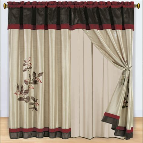 Priscilla Curtains With Attached Valance  Furniture Ideas