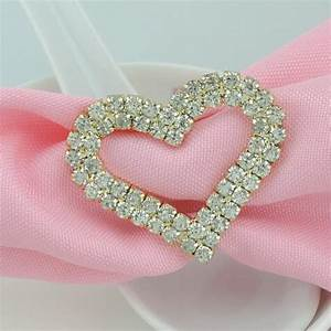 10pcs lot full clear crystal rhinestone napkin rings metal With rhinestone napkin rings for weddings
