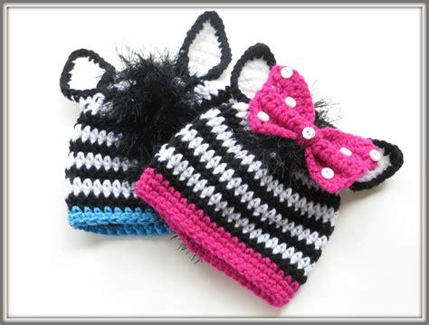 crochet dreamz zebra beanie crochet pattern  boys