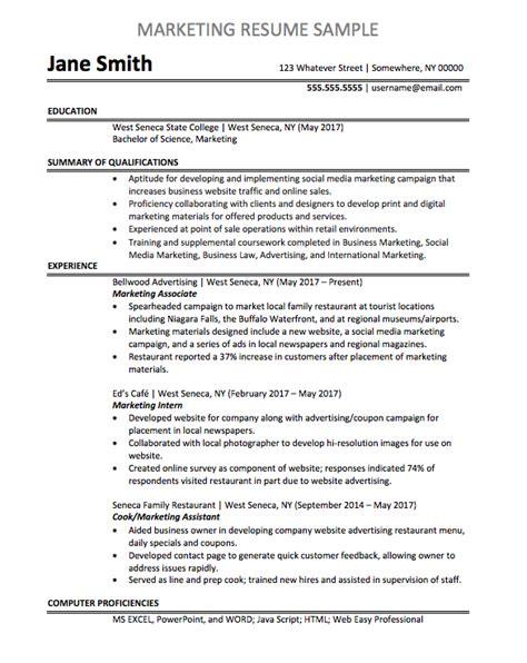 Marketing Resume Exle by Marketing Associate Resume Sle Chegg Careermatch