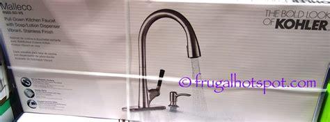 kohler malleco pull down kitchen sink faucet with soap dispenser costco kohler malleco pull down kitchen faucet 149 99