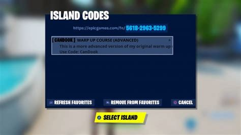 fortnite codes  creative islands patchesoft