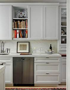 white marble countertops transitional kitchen best With best brand of paint for kitchen cabinets with metal arrow wall art